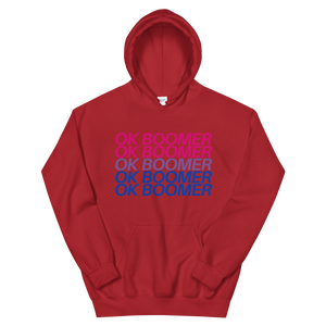 Hooded Sweatshirt - Bisexual OK BOOMER