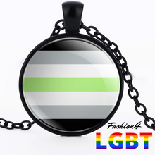 Necklace - 18 Flags Black / Agender