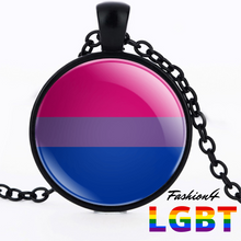 Necklace - 18 Flags Black / Bisexual