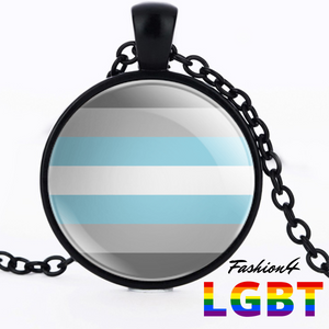 Necklace - 18 Flags Black / Demiboy
