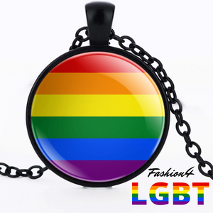 Necklace - 18 Flags Black / Lgbt