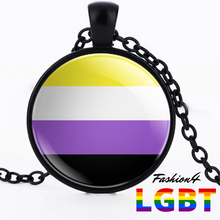 Necklace - 18 Flags Black / Non-Binary