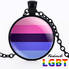 Necklace - 18 Flags Black / Omnisexual
