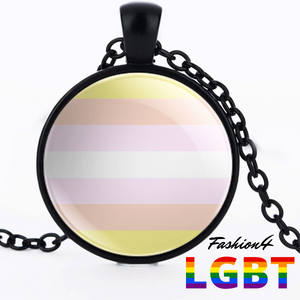 Necklace - 18 Flags Black / Pangender