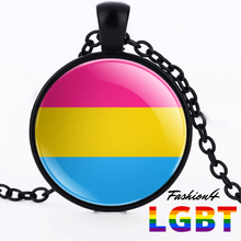 Necklace - 18 Flags Black / Pansexual