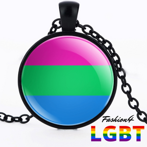 Necklace - 18 Flags Black / Polysexual
