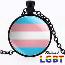 Necklace - 18 Flags Black / Transgender