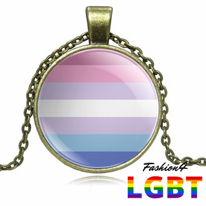Necklace - 18 Flags Bronze / Bigender