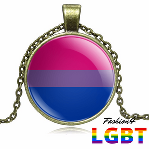 Necklace - 18 Flags Bronze / Bisexual