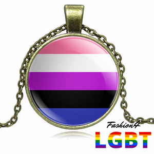 Necklace - 18 Flags Bronze / Genderfluid