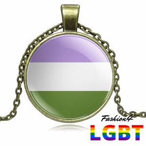 Necklace - 18 Flags Bronze / Genderqueer
