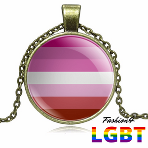 Necklace - 18 Flags Bronze / Lesbian