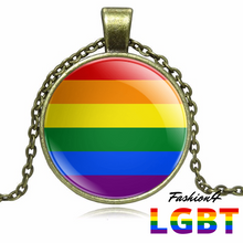 Necklace - 18 Flags Bronze / Lgbt
