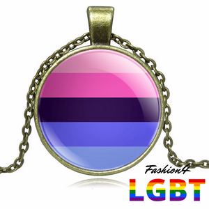 Necklace - 18 Flags Bronze / Omnisexual