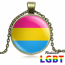 Necklace - 18 Flags Bronze / Pansexual