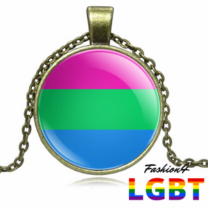 Necklace - 18 Flags Bronze / Polysexual