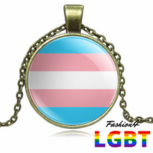 Necklace - 18 Flags Bronze / Transgender