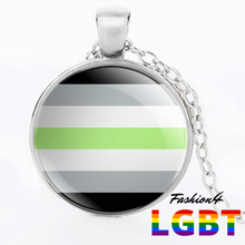 Necklace - 18 Flags Silver / Agender