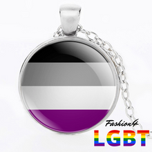 Necklace - 18 Flags Silver / Asexual