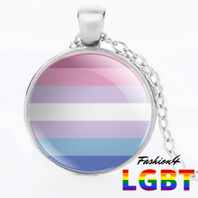 Necklace - 18 Flags Silver / Bigender