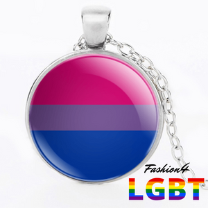 Necklace - 18 Flags Silver / Bisexual