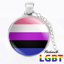 Necklace - 18 Flags Silver / Genderfluid