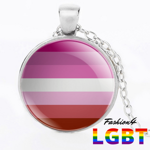 Necklace - 18 Flags Silver / Lesbian
