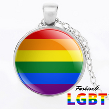 Necklace - 18 Flags Silver / Lgbt