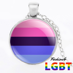 Necklace - 18 Flags Silver / Omnisexual