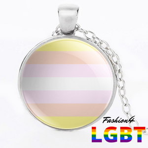 Necklace - 18 Flags Silver / Pangender