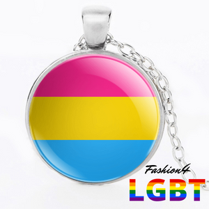 Necklace - 18 Flags Silver / Pansexual