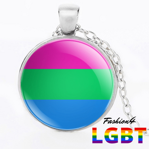 Necklace - 18 Flags Silver / Polysexual