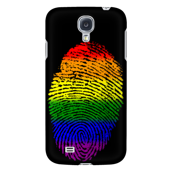 Phonecase - Rainbow Touch Black Galaxy S4 Phone Cases