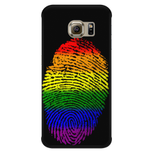 Phonecase - Rainbow Touch Black Galaxy S6 Edge Phone Cases