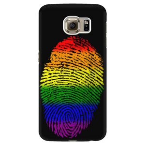 Phonecase - Rainbow Touch Black Galaxy S6 Phone Cases