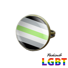 Pride Ring - 18 Flags Bronze / Agender