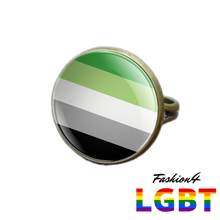 Pride Ring - 18 Flags Bronze / Aromantic