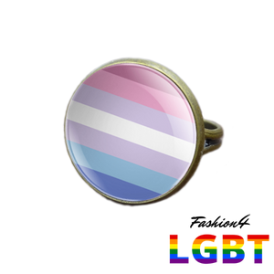 Pride Ring - 18 Flags Bronze / Bigender