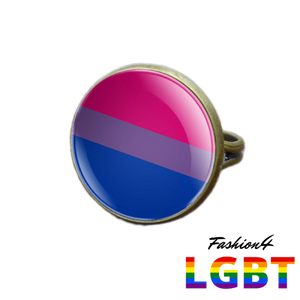 Pride Ring - 18 Flags Bronze / Bisexual