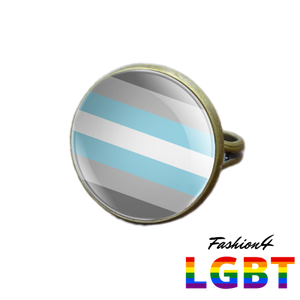 Pride Ring - 18 Flags Bronze / Demiboy