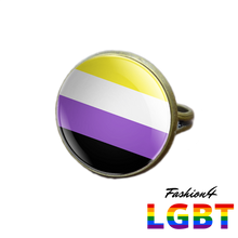 Pride Ring - 18 Flags Bronze / Non-Binary