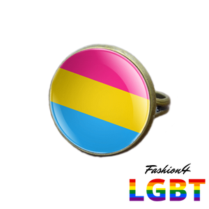 Pride Ring - 18 Flags Bronze / Pansexual