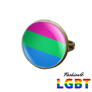 Pride Ring - 18 Flags Bronze / Polysexual