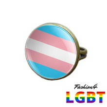 Pride Ring - 18 Flags Bronze / Transgender
