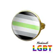 Pride Ring - 18 Flags Gold / Agender