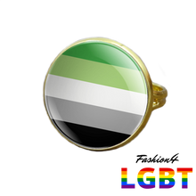 Pride Ring - 18 Flags Gold / Aromantic