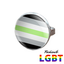 Pride Ring - 18 Flags Silver / Agender