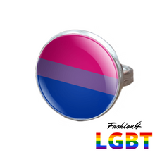 Pride Ring - 18 Flags Silver / Bisexual