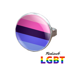 Pride Ring - 18 Flags Silver / Omnisexual