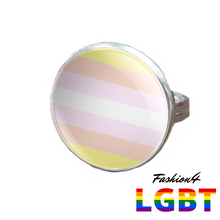 Pride Ring - 18 Flags Silver / Pangender